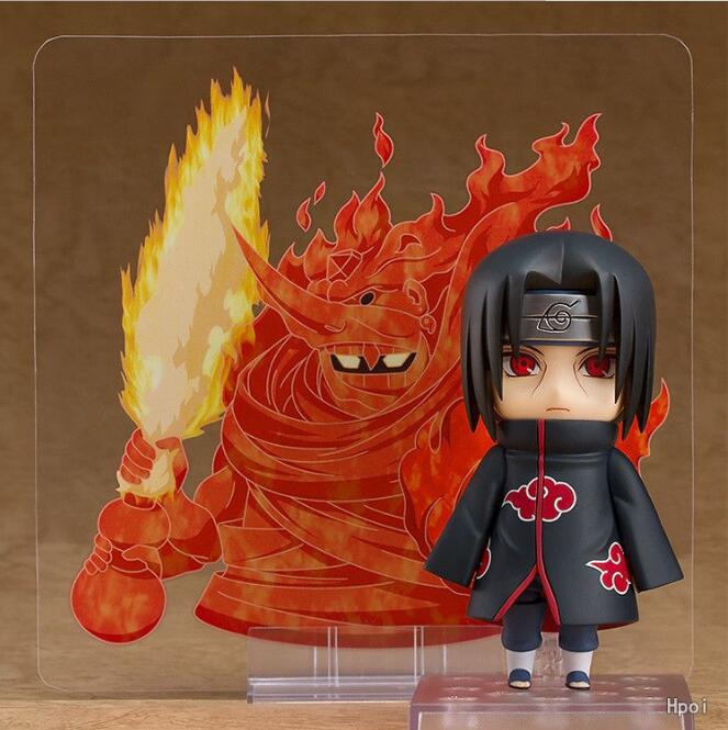 10cm Naruto Nendoroid Shippuden Uchiha Itachi 820# Anime Action Figure PVC toys Collection figures for friends gifts 29