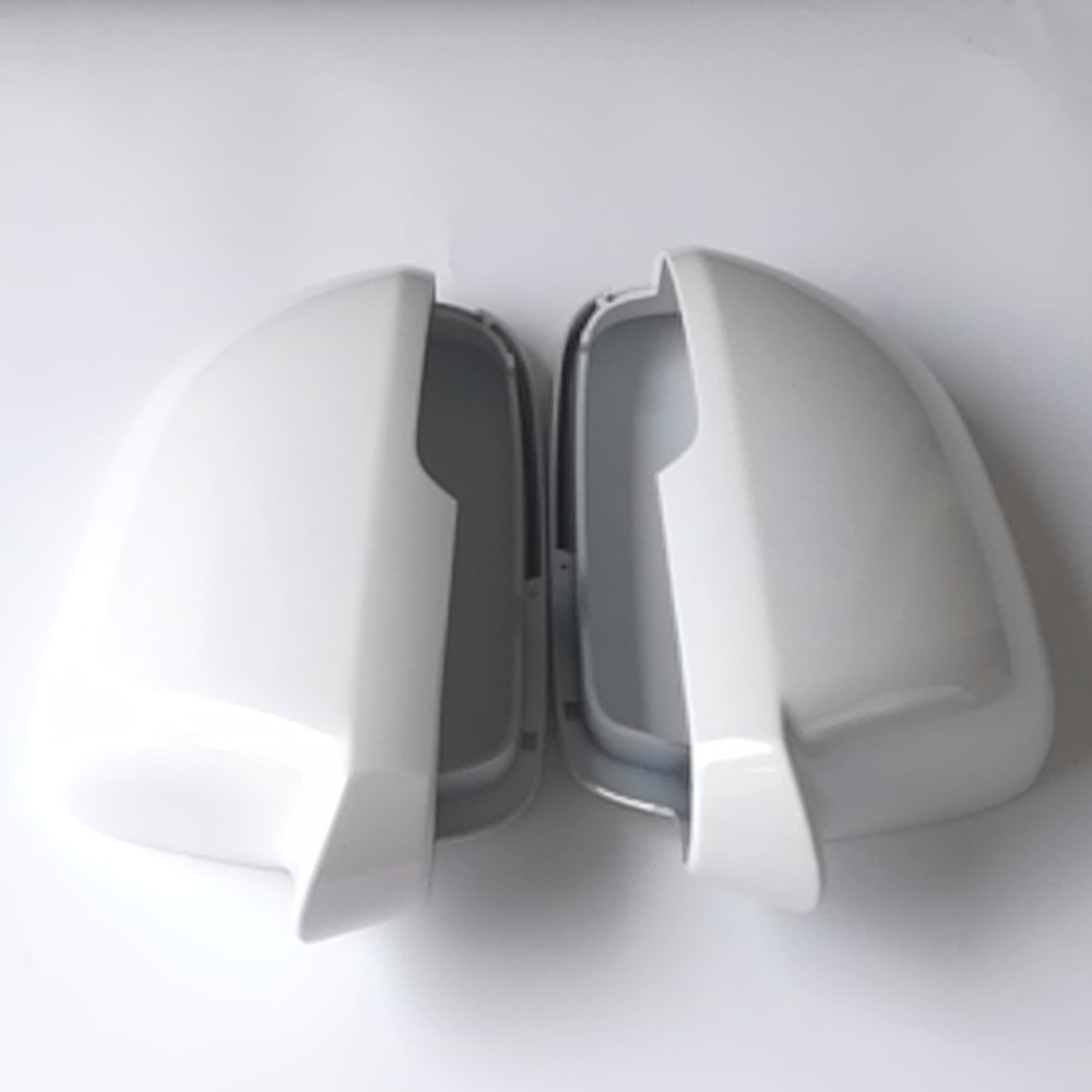ELISHASTAR Rearview Mirror Cover with Spray Paint White Sliver Grey Black For VW 2013 2014 classic