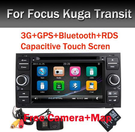 Capacitive Screen 7 inch 2 Din font b Car b font Radio for Ford Focus DVD