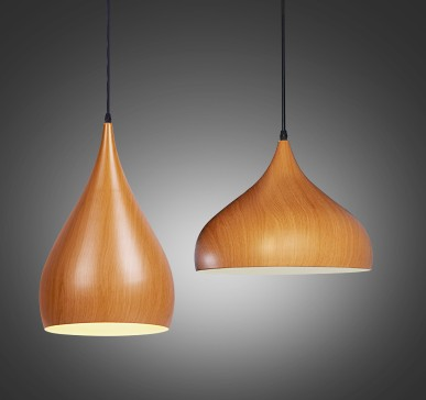 цены Promotion of North and Europe style Pendant Lights retro garden personalized originality lamp wood grain aluminum LU808163