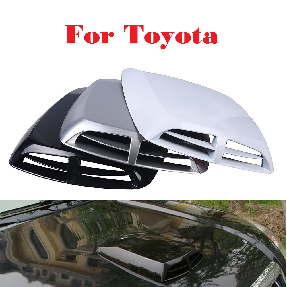 2017 Car Stickers Scoop Turbo Bonnet Vent Cover Hood Decorate For Toyota Verossa Vios Vitz WiLL Cypha Windom Yaris Highlander 2017 side bonnet cover for mitsubishi l200 triton bonnet hood cover for mitsubishi 2016 for ycsunz