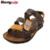 2017 crianças sapatos de couro fio de costura masculinos criança sandálias genuínos sandálias de couro criança meninos sandálias