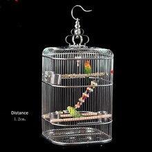 Округленная высота квадратный большой нержавеющая сталь thrush Белоголовый Орел клетка шифрование шелковая клетка для попугая