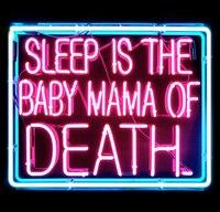 NEON ZEICHEN für schlaf ist die baby mama des todes Pirate ECHT GLAS BIER BAR PUB anzeigen Lichtzeichen Schild Shop Shop 19*15