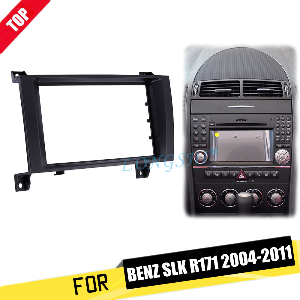 Longshi Double Din Install Dash Bezel Trim Kit For 2004 2011 Car Stereo Radio Wiring Harness 1 Installation Mercedes Benz Slk R171 Frame Audio Panel Fitting 2din In Fascias From Automobiles