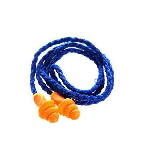 10Pcs Soft Silicone Corded Ear Plugs Ears Protector Reusable Hearing Protection Noise Reduction Earplugs Earmuff Ear Protection