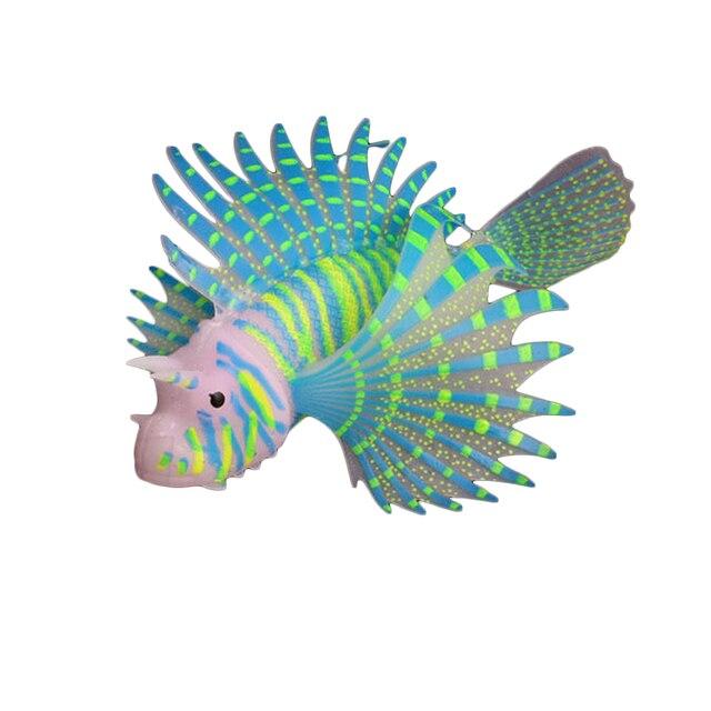 landschaftsbau aquarium decor fluoreszierende simulation glow lion fische tropische fische tank. Black Bedroom Furniture Sets. Home Design Ideas