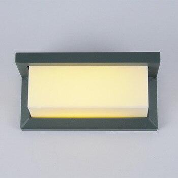 10ワット220ボルト現代ledガーデンライト壁ランプ防水バルコニー防水屋外ポーチライト送料無料