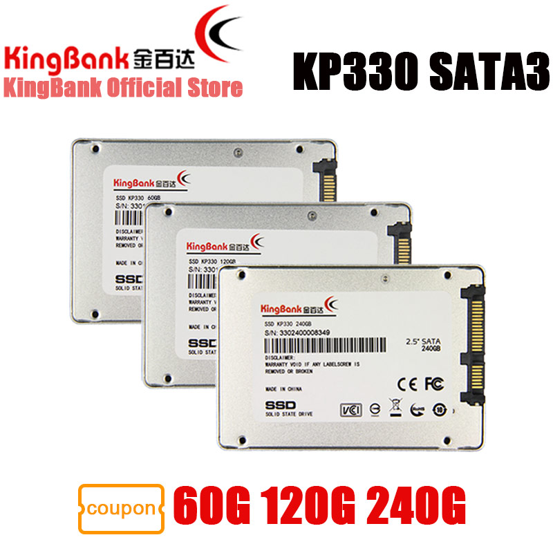 KingBank SSD 60GB 120GB 240GB KP330 SATA3 2.5'' Internal Solid State Drive Hard Drive Disk HD HDD 120 GB for Laptop Desktop PC