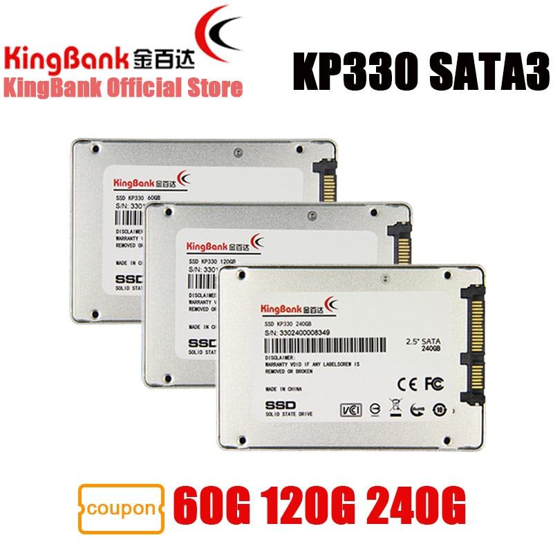 KingBank SSD 60GB 120GB 240GB KP330 SATA3 2.5'' Internal Solid State Drive Hard Drive Disk HD HDD 120 GB for Laptop Desktop PC