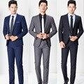 2017 Nova Marca Mens Ternos de Negócio Blazer Ocasional Dos Homens de Vestuário Profissional 2 Peças Jaqueta + Calça Padrinho de casamento Smoking MT287