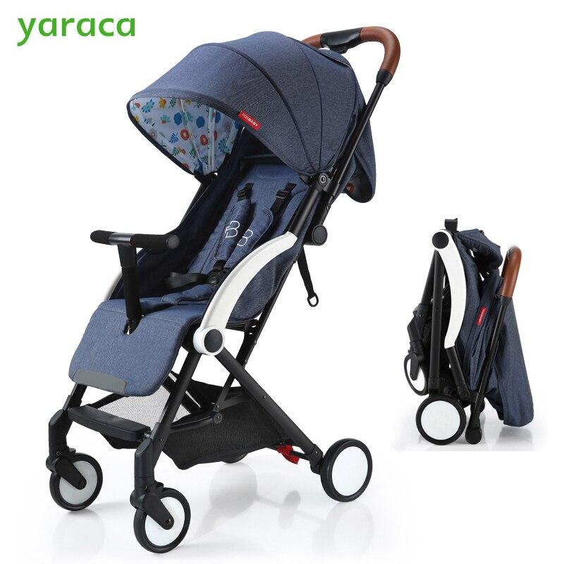 Bébé de luxe Poussette 2 dans 1 5 kg Léger Poussettes Pour Les Nouveau-nés Confortable Système Voyage Bébé Chariot de Marche Bébé Transport