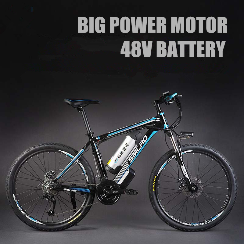 26″  48V Lithium Battery 350W Aluminum Alloy Electric Bicycle, 27 Speed Electric Bike, MTB / Mountain Bike,adopt Oil Disc Brakes