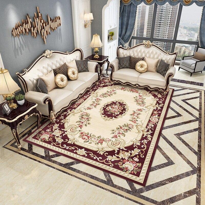 Style nordique salon table basse tapis ins mignon canapé chevet chambre plein étage chambre tapis personnalisé