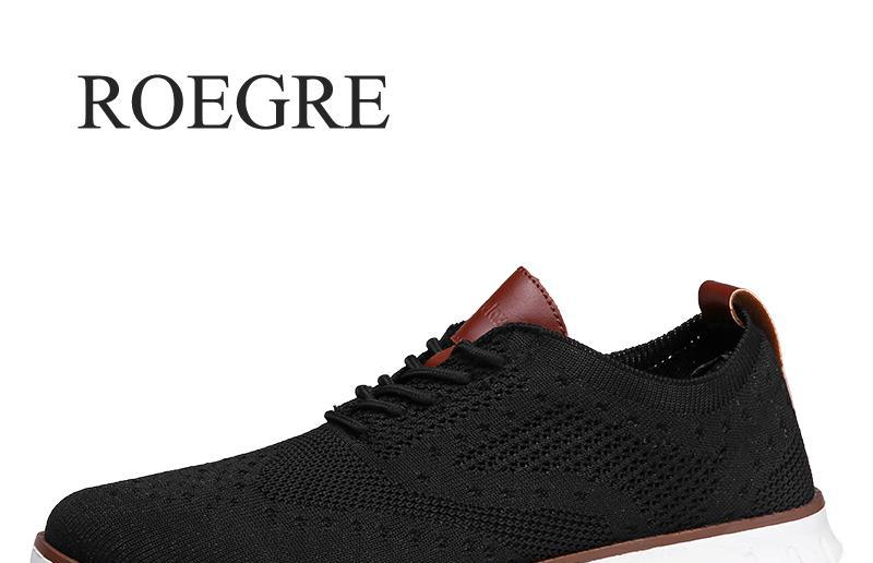 Casual Knitted Mesh Men's Shoes Solid Shallow Lace Up Lightweight Soft Men Sneakers Shoes Breathable Man Footwear Flats 39-48 2