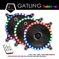ALSEYE RGB Cooling Fan DC 12V Multicolor 120mm Fan Cooler For Computer Remote Control With RGB