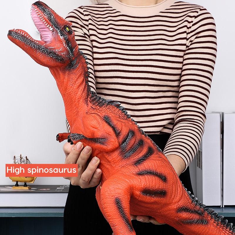 68CM Dinosaur Model Big Size Shark Plastic Puppets Tyrannosaurus Rex Velociraptor Jurassic Worlds Park Dinosaur Toys For Kids