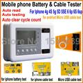 Батареи оформления и кабели тестер коробка для iphone 4g 4s 5 г 5S 5se 6 6 P 6 s 6 s плюс