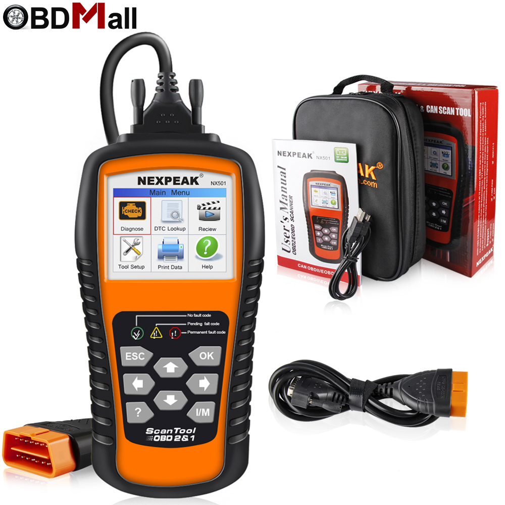 2018 Newest OBD2 Scanner Car Diagnostic Tool NEXPEAK NX501 Multi-languages Full OBD 2 Function Check Engine Code Reader Analyzer xtool ps100 obd2 car code reader trouble code reader