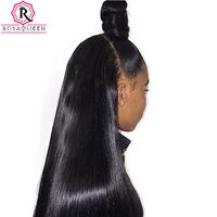 Full Lace Human Hair Wigs Pre Plucked For Women 130% Density Brazilian Straight Lace Wig With baby Hair Black Rosa Queen Remy