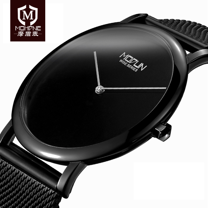 2017 Mens Watches Top Brand Luxury Ultra-Thin Fashion Black Clock Japan Movement 50M Waterproof Reloj Hombre Quartz Wristwatch tada brand luxury high quality 3atm waterproof japan quartz movement watches relojs lady fashion genuine leather watches