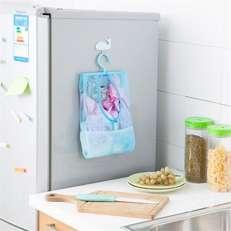 1pc Hangable Multi-Purpose Storage Net Bag Clothes Clip Net Bag Home Garden Home Storage Organization Kitchen Storage Bag