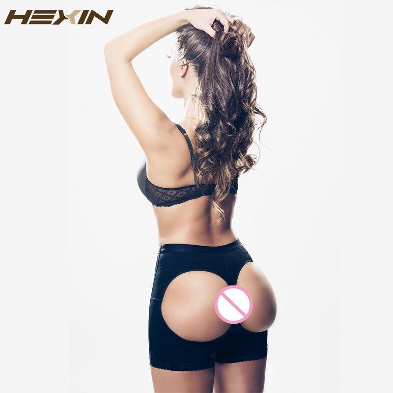 9e29d9dc37072 HEXIN Women Butt Lifter Underwear Buttock Enhancer Bum Lift Booty Shaper  Sexy Tummy Control Panties Open Bottom Butt Lift-in Control Panties from  Underwear ...
