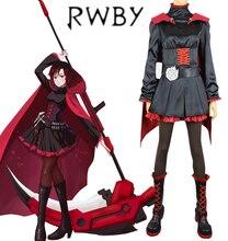 Temporada 1 rojo remolque rwby ruby rose negro gothic dress anime cosplay costume