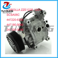 Maak cool 447220-6380 447180-9090 auto ac compressor voor Toyota Corolla ZZE122R 12/01 denso SCSA06C