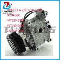 Toyota corolla zze122r 12/01 denso scsa06c 447220-6380 447180-9090 용 쿨 오토 ac 컴프레서 만들기
