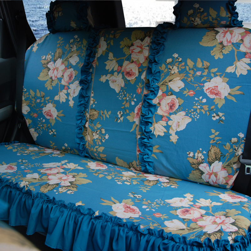 luxury blue wool ball peacock flower car seat covers cotton cloth auto seat cushion pad with. Black Bedroom Furniture Sets. Home Design Ideas