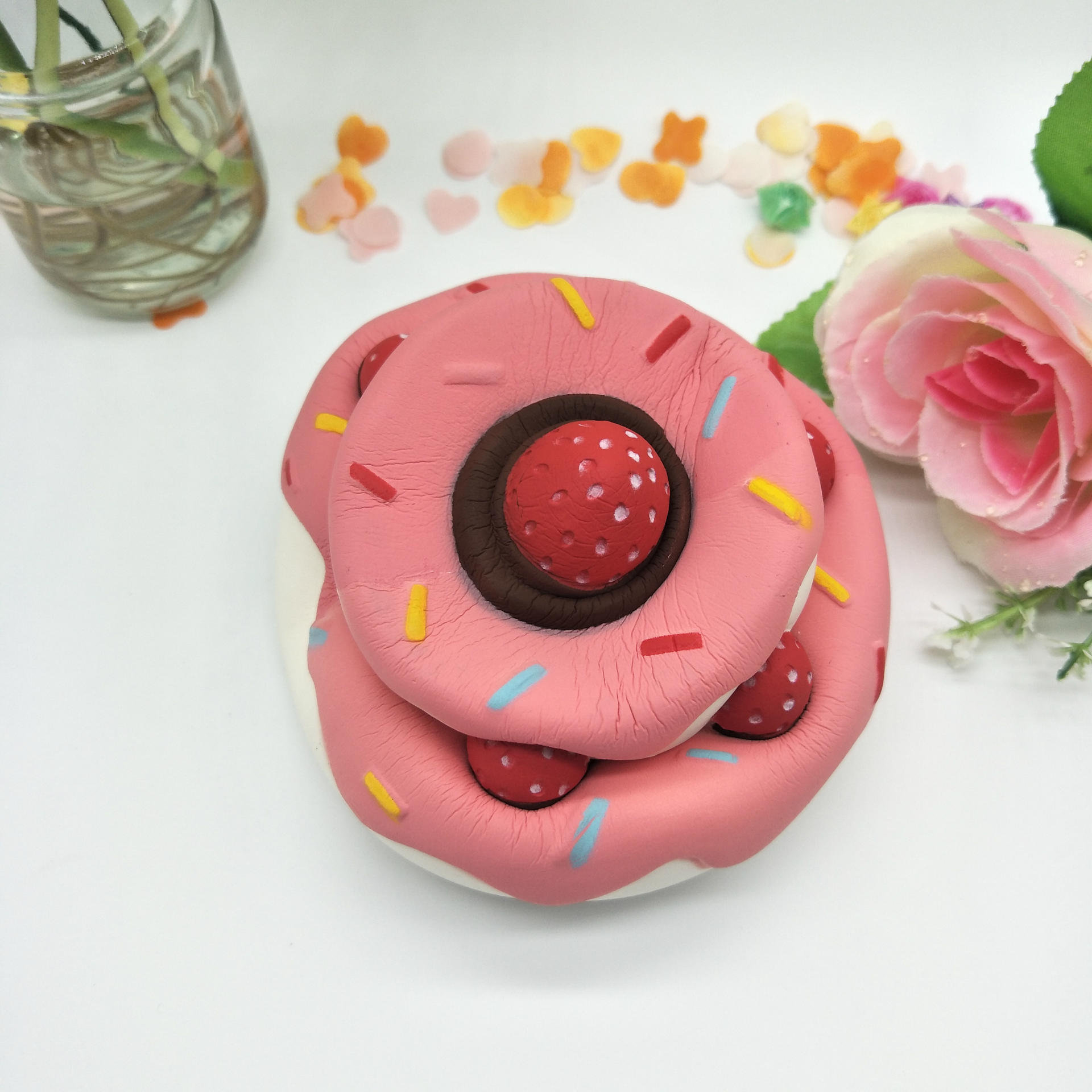 SAINTGI Squishy hamburguesa pudcoco juguete figura de acción limo - Nuevos juguetes y juegos - foto 3