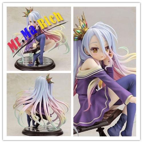 Anime Gift NO GAME NO LIFE SHIRO 1/7 Scale Action Figure Figurine Toy Doll Model new phat anime life no game no life shiro game of life painted second generation game of life 1 7 scale pvc action figure model