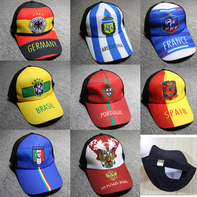 Competition national team baseball cap Argentina Germany France Brazil  Portugal Italy Russia Sun hat caps Cheerleading hats Fans e9d49de15e5