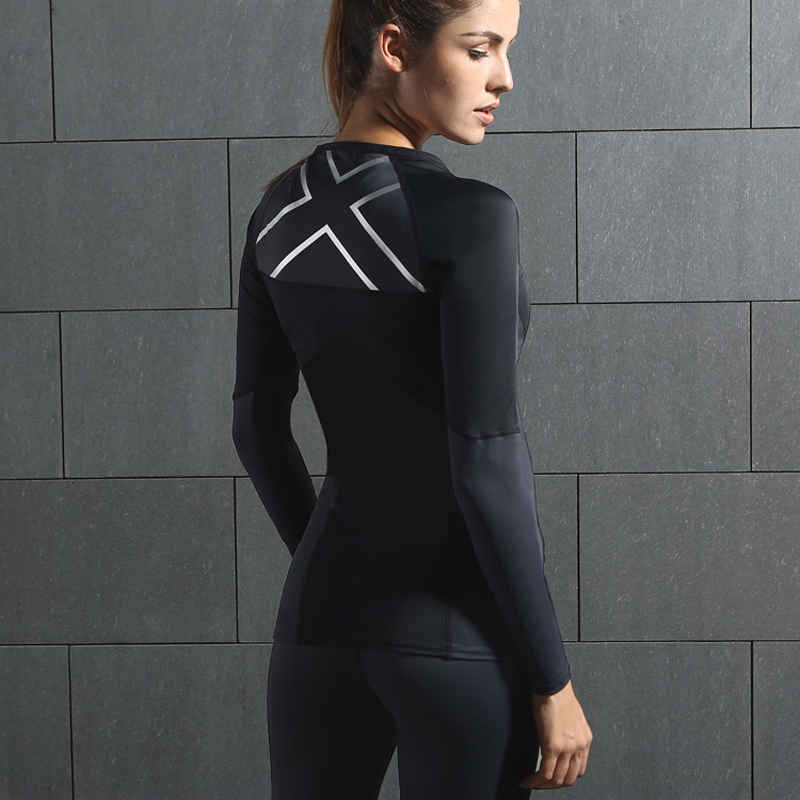 2017 NEW <font><b>WOMEN'S</b></font> <font><b>ELITE</b></font> <font><b>COMPRESSION</b></font> L/<font><b>S</b></font> TOP fast-drying long-sleeved tights fitness uniforms running t-shirt training clothes