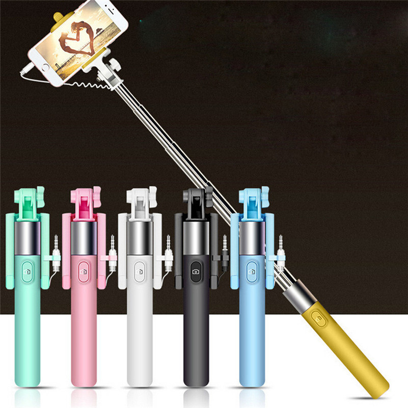 2017 hot selling mutil-colourful Extendable Handheld Self-portrait Tripod Monopod Stick For iphone For samsung Xiaomi Huawei