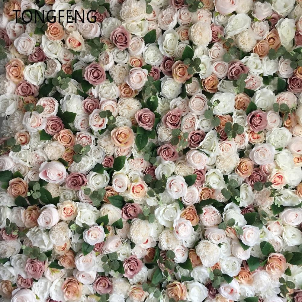 10pcs lot Artificial silk rose 3D flower wall panel wedding backdrop decoration flower runner wedding stage