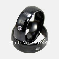 Free Shipping Cheap Price Jewelry USA Brazil Russia Hot Sales His Her 8MM Black Brushed With
