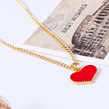 N147 Fashion Vintage 3 colors Heart Pendants Necklace Chain For Women Jewelry Accessories Wholesale 2018 Best Selling