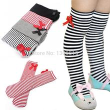 Hot Cotton Kid Baby Bowknot Stripes In tube 1 8Y Girls Dress High Stocking