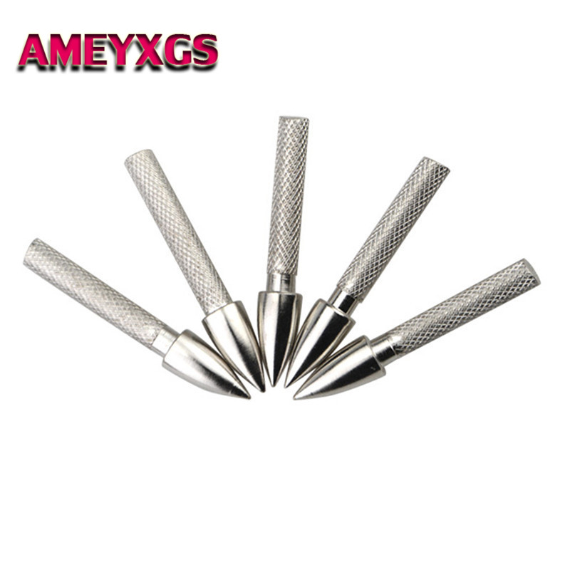 20pcs//set Archery Screw Broadhead Arrowhead Insert Adapter Connector Shaft Tool