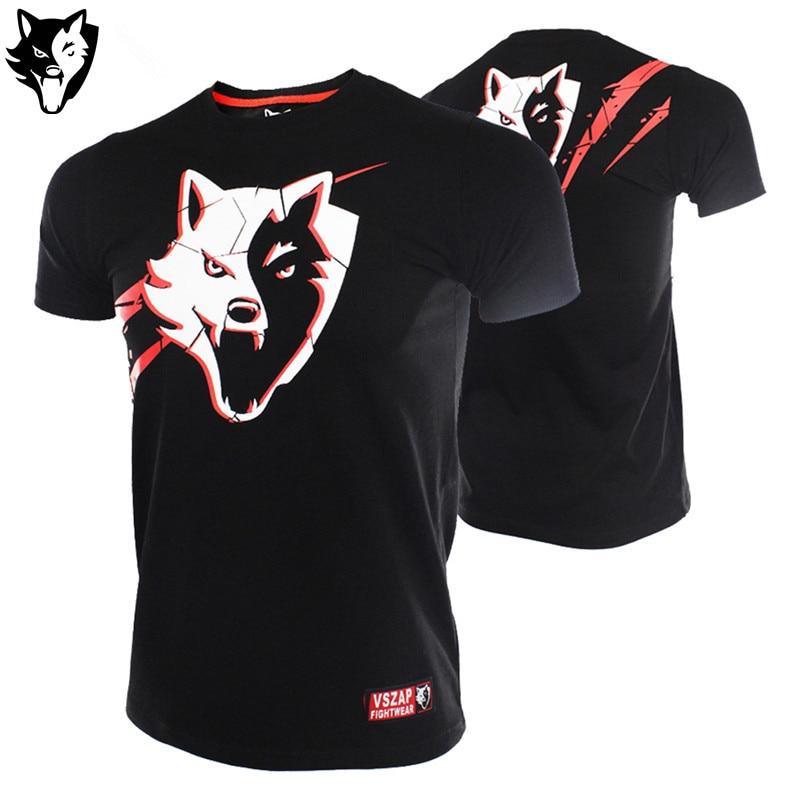 VSZAP EXPLODING MMA Angry Gorilla Breathable Short - Sleeved T - Shirt Fight T - Shirt Fitness Sanda Training Thai Boxing Wear