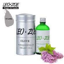 LEOZOE Clove Essential Oil Certificate Of Origin Sri Lanka Authentication High Quality Clove Oil 100ml Aceite Esencial