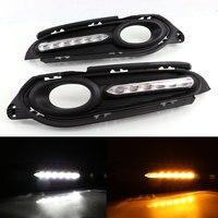 Daytime Running Light DRL For Honda HRV HR V 2014 2015 Left Right Fog Light Cover