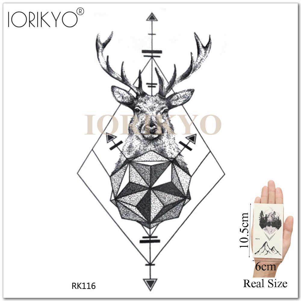 3d временные женщины рука татуировки наклейки черные мужчины геометрический