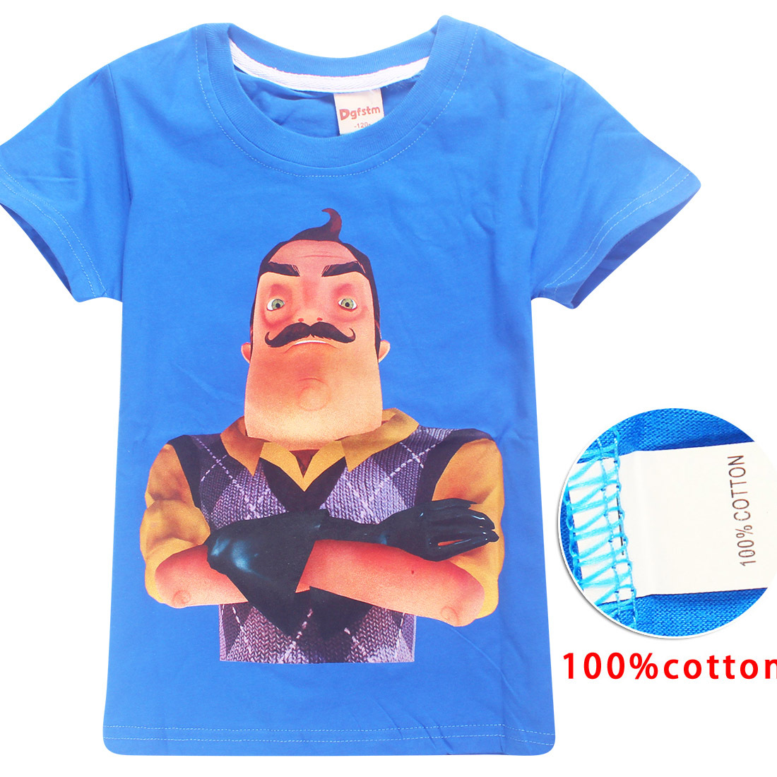 YLS 6-14Years Maillot Equipe De France 2018 Summer Clothes The Hello Neighbor T Shirts for Boys Tshirt Teenager Tee Shirt Enfant