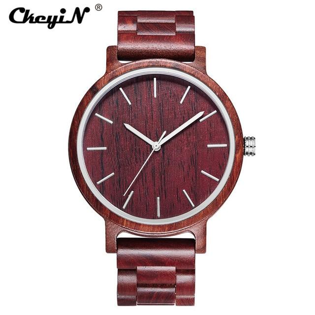 Reloj de madera creativo para hombre, relojes de pulsera de cuarzo analógicos de marca de lujo para hombre, reloj de hombre, regalo PJ