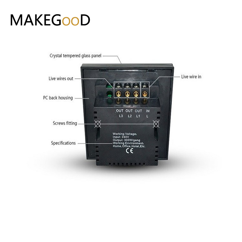 Wiring a light switch 2 gang 1 way wire center uk standard touchscreen and remote control light switch 2 gang 1 way rh aliexpress com leviton 3 way switch installation two way switch connection cheapraybanclubmaster Images