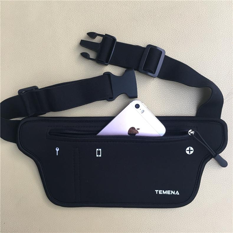 TEMENA Men Women Running Waist Belt Bag Phone Holder Jogging Belly Fanny Packs Gym Fitness Bags Sport Running Accessories 14