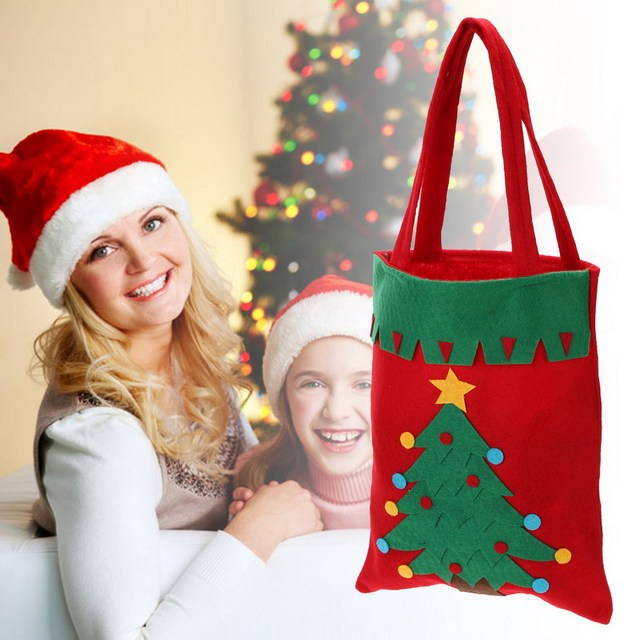 Chrismas Santa Claus Kids candy gift bags Handbag Pouch Wedding Sack Present Bag Christmas Decoration Cute Santa Gift Bag